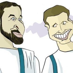Pablo Casado e Santiago Abascal por Siro